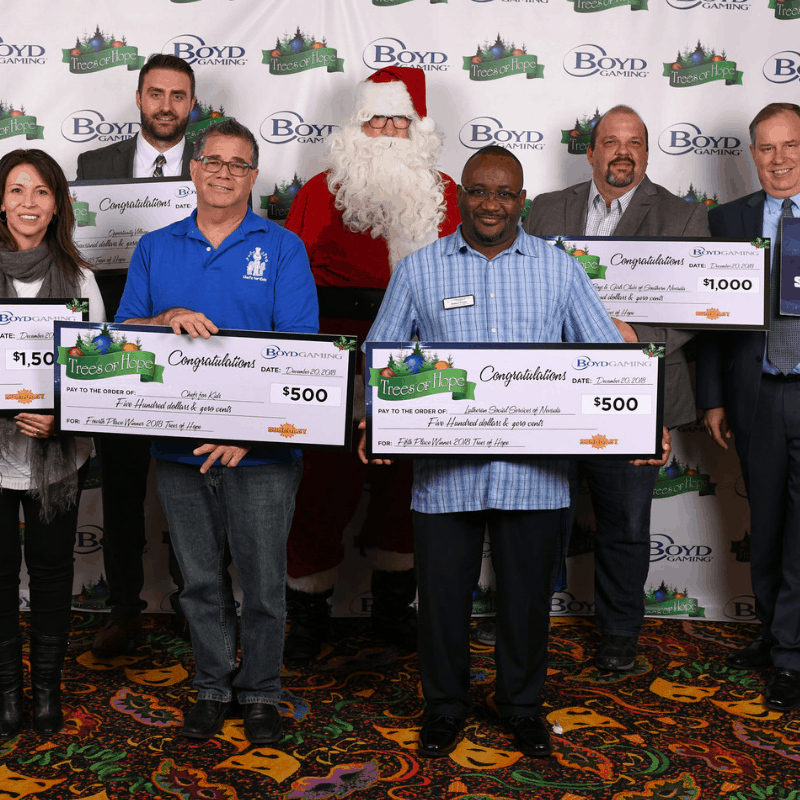 Boyd Gaming awarded Chefs for Kids $500 in its fourth annual 'Trees of Hope' tree-decorating competition.